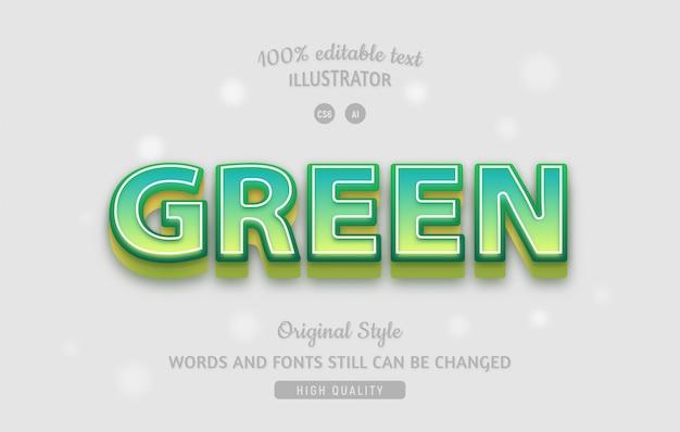 Zielony edytowalny zielony tekst z gradientami.