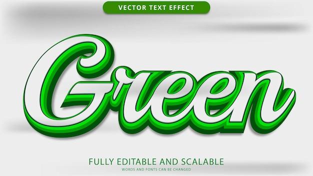 Zielony efekt tekstowy edytowalny plik eps