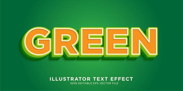 Zielony efekt tekstowy efekt stylu programu illustrator
