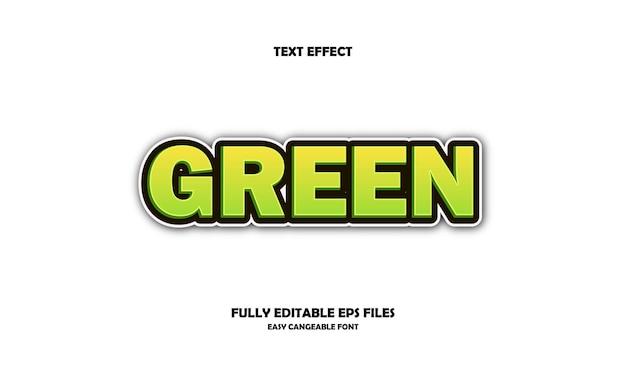 Zielony efekt tekstowy