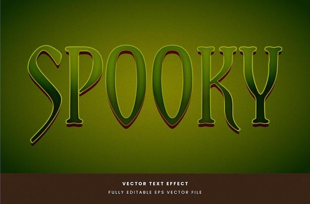 Zielony efekt tekstu halloween