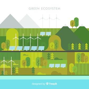 Zielony ekosystemu pojęcia tło