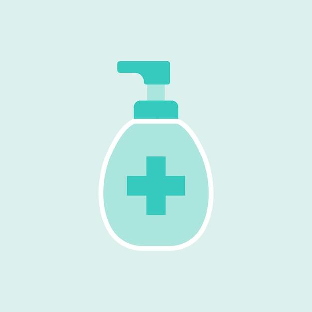 Zielony element butelki mydła w płynie