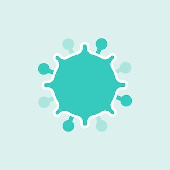 Zielony element komórki koronawirusa