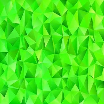 Zielony geometryczny streszczenie chaotyczny wzór trójk? t tle - mozaiki wektora grafiki