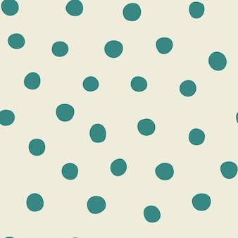 Zielony i beżowy wzór z kropkami konfetti abstrakcyjny wzór bez szwu