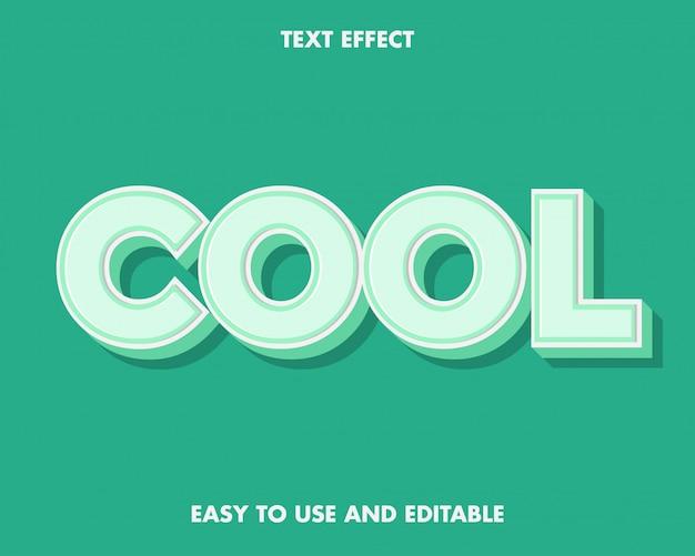 Zielony i biały fajny efekt tekstowy łatwy w użyciu i edytowalny.
