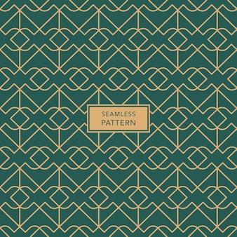 Zielony i brązowy bezszwowe tło wzór geometryczny. ilustracja wektorowa.