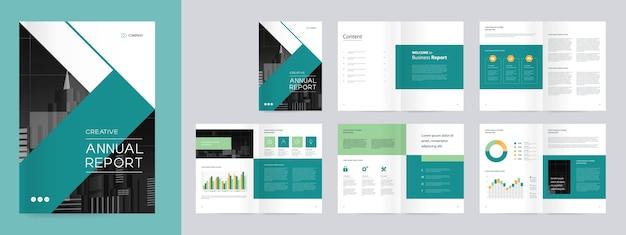 Zielony i czarny raport roczny