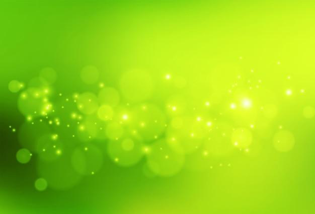 Zielony i świeży bokeh.