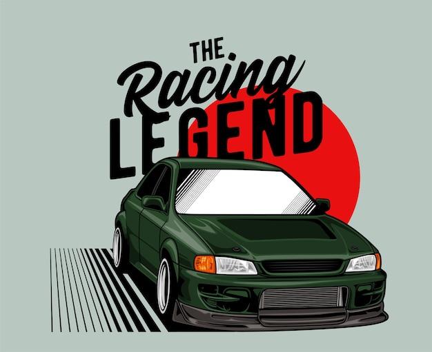 Zielony japoński samochód legendy