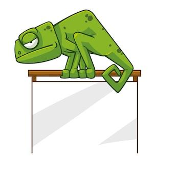 Zielony kameleon