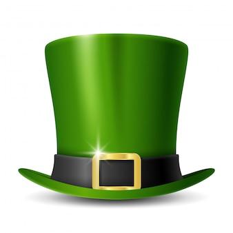 Zielony kapelusz kobolda patrick's day