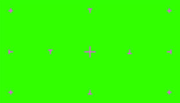 Zielony kolorowy klucz chroma tło ekran płaski projekt ilustracji wektorowych klucz chroma vfx