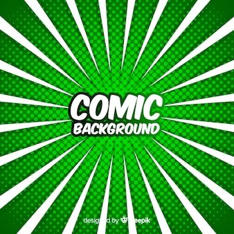 Zielony komiks półtonów tła