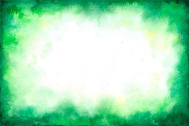 Zielony kopii przestrzeni tło w akwareli