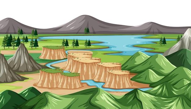 Zielony krajobraz przyrody