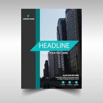 Zielony kreatywny raport roczny szablonu książki