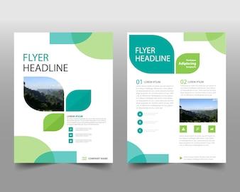 Zielony kreatywny szablon raportu rocznego