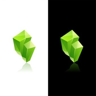 Zielony kryształowy kamień