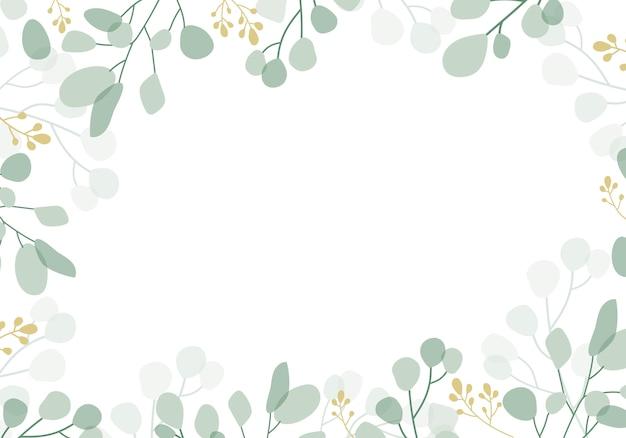 Zielony kwiatowy tło