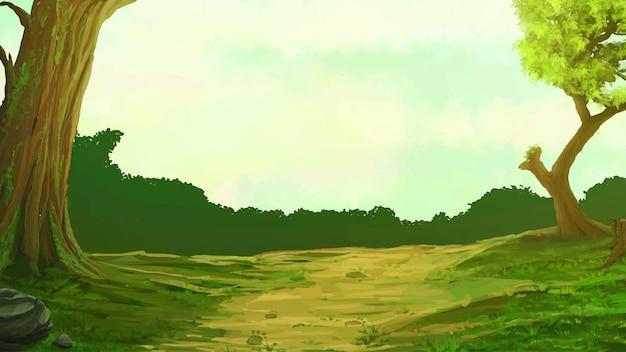 Zielony las tropikalny krajobraz