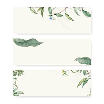 Zielony liść botaniczny tło projekt