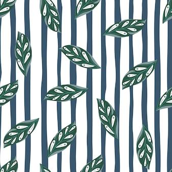 Zielony losowy wzór sylwetki liści