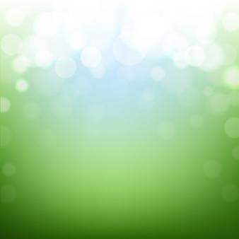 Zielony natury tło z bokeh