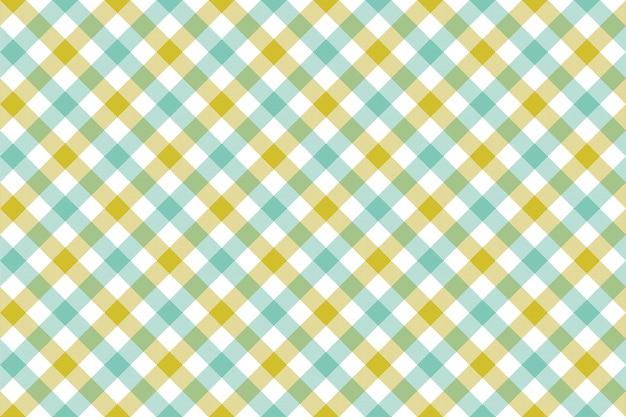 Zielony niebieski czek przekątnej tkaniny tekstura wzór