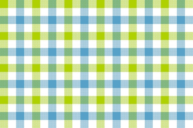 Zielony niebieski czek tkanina tekstura wzór