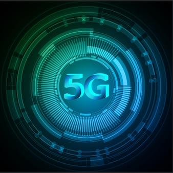 Zielony niebieski obwód cyber przyszłości technologia koncepcja tło