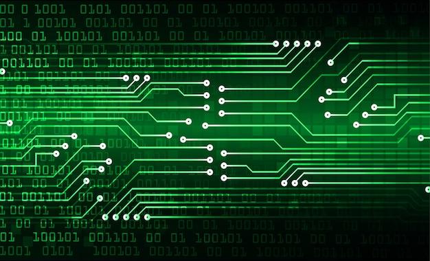 Zielony obwód cyber przyszłości koncepcja technologii