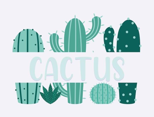 Zielony plakat kaktusowy