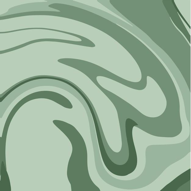 Zielony płynny marmur tekstury malowanie tuszem abstrakcyjny wzór tła ilustracje wektorowe
