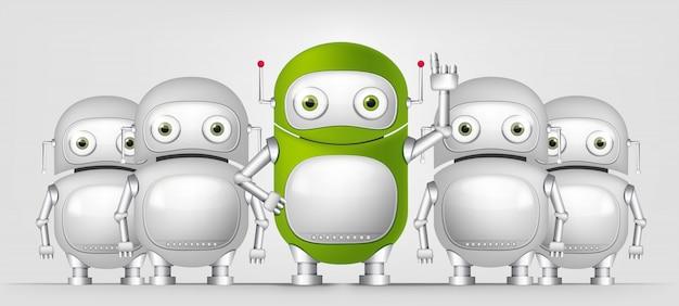 Zielony robot