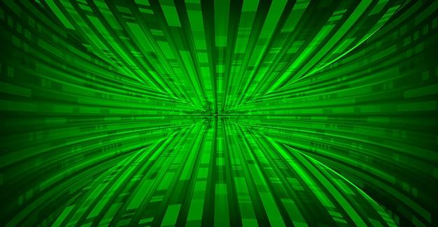 Zielony ruch fala streszczenie tło wektor