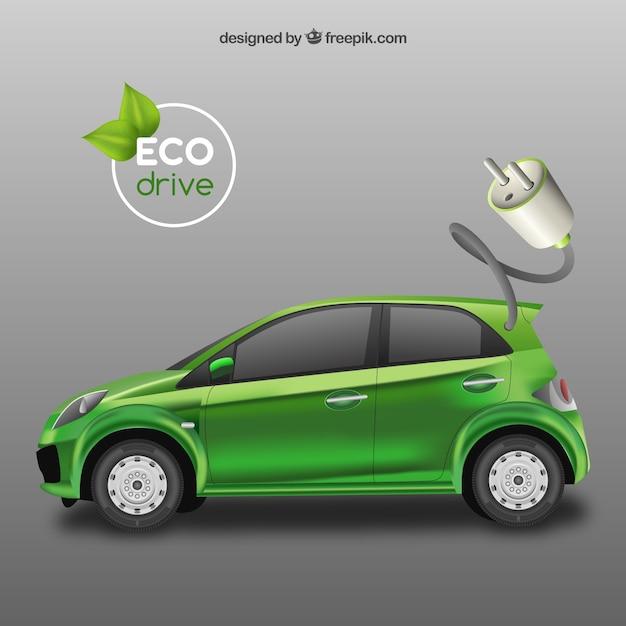 Zielony samochód ekologiczny