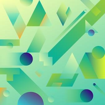 Zielony streszczenie geometryczne tło gradientowe.
