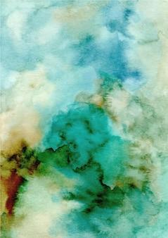 Zielony streszczenie tekstura tło z akwarelą
