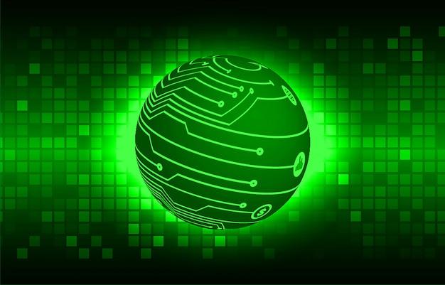 Zielony świat cyber obwodu przyszłości technologii koncepcja tło