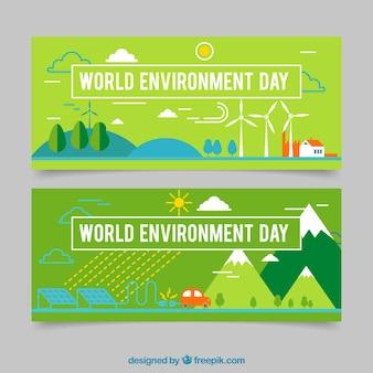 Zielony świat środowiska dni baner