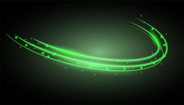 Zielony świecący ślad pierścienia