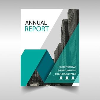 Zielony szablon okładki raport roczny