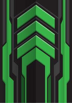 Zielony szary strzałka futurystyczny technologia tło.