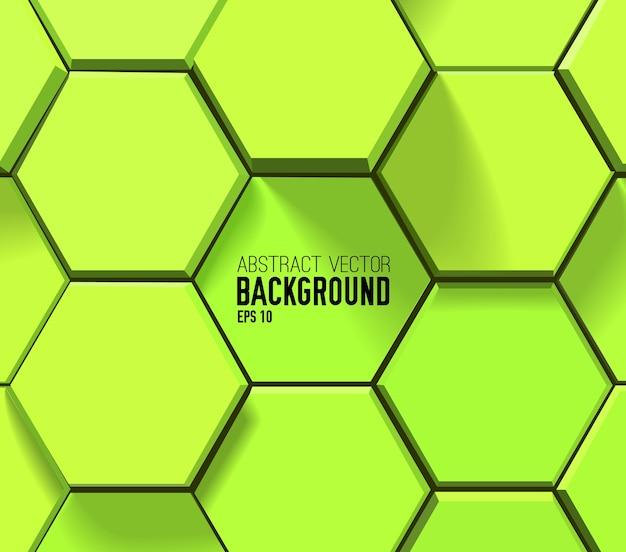 Zielony sześciokątny wzór geometryczny