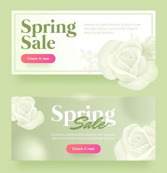Zielony transparent sprzedaży wiosny
