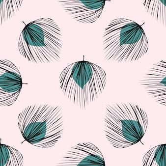 Zielony tropikalny liść bezszwowy wzór.