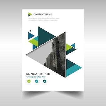 Zielony twórczy raport roczny szablon okładki książki