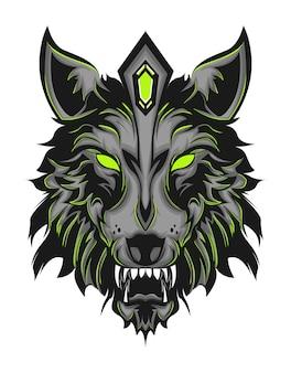 Zielony wilk